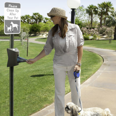 Dog waste bag dispensers